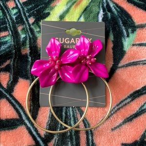 BAUBLEBAr Sugarfix Floral Hoops NEW